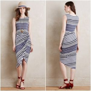 Anthropologie Bailey 44 Gathered Stripes Dress